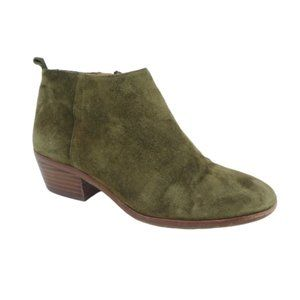 J. Crew Green Suede Ankle Boots Booties